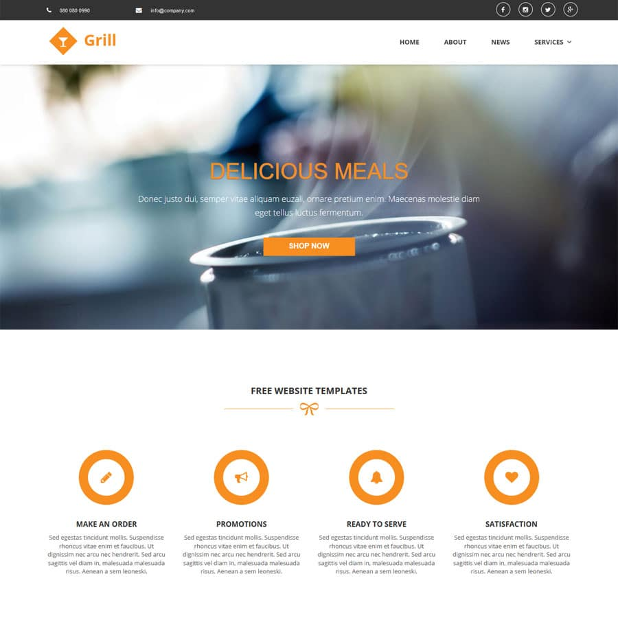 grill-website-templates