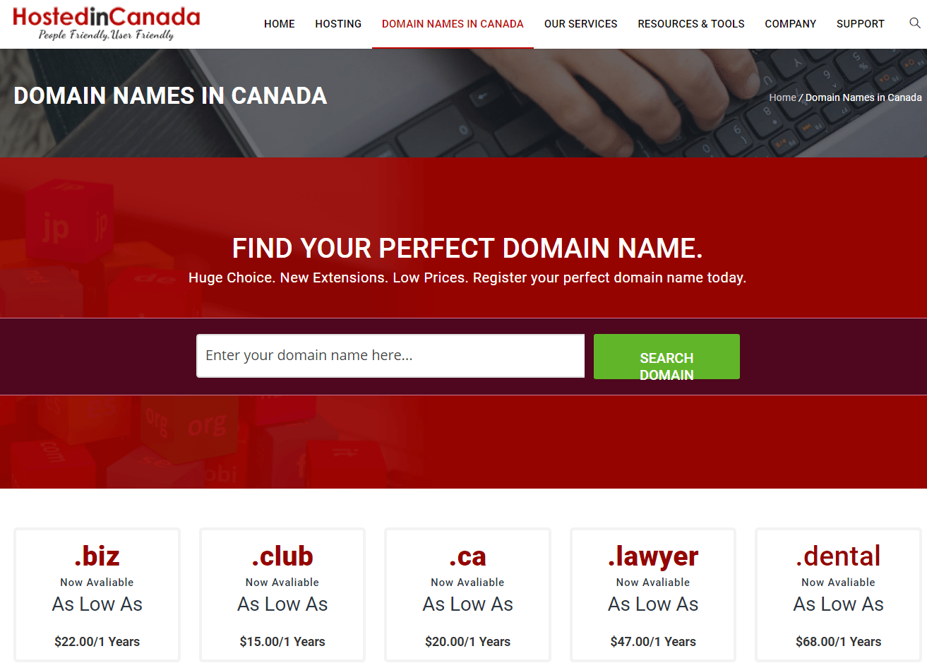 What is and where can I get domain name registration in Canada?