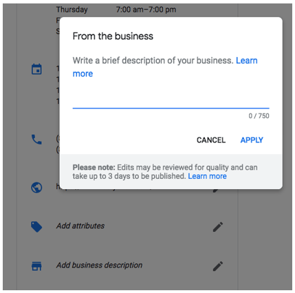 ADDING BUSINESS DESCRIPTION ON GOOGLE MY BUSINESS IS NOW HASSLE FREE!
